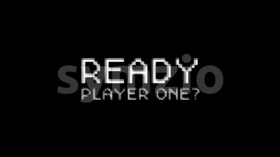 Ready Player One Message For Game UI Stock Video