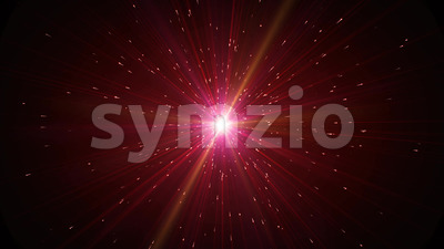 Beautiful Abstract Shining Starburst Hyperspace Background Stock Video