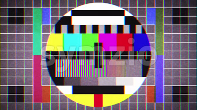 Old Tv Test Signal Sight Background Loop Stock Video