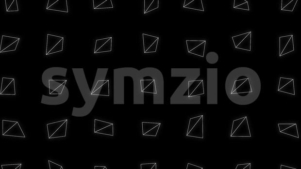 Animation of an abstract background loop with geometrical mosaic of triangle shapes spinning