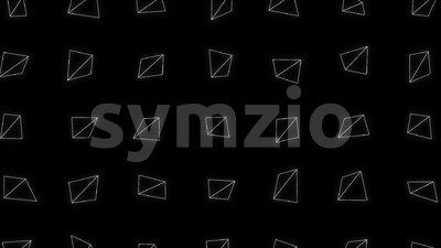 Abstract Triangle Shapes Spinning Background Loop Stock Video