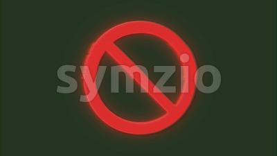 4k Forbidden Sign Glitch Video Background Stock Video