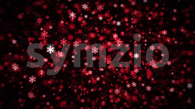 Animation of an abstract elegant red snowflakes background, loopable for christmas and happy new year holidays