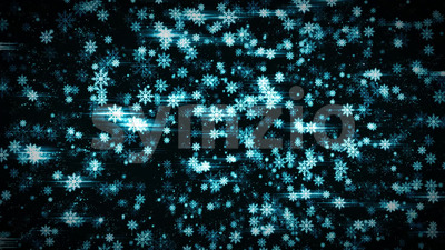 Seamless Looped Christmas Snowflakes Background Stock Video