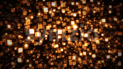 Seamless Abstract Lighted Square Particles Background Stock Video