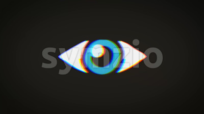 Big Brother's Eye On Vintage Old Television Screen Stock Video