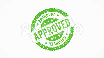 4k Approved Rejected Seal Certificate Clip Stock Video