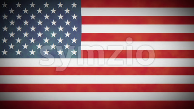 4k American Flag Background Loop With Glitch Fx Stock Video