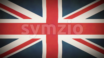 4k United Kingdom Flag Background Loop With Glitch Fx Stock Video