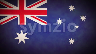 4k Australia Flag Background Loop With Glitch Fx Stock Video