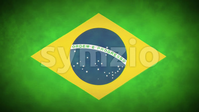 4k Brazil Flag Background Loop With Glitch Fx Stock Video
