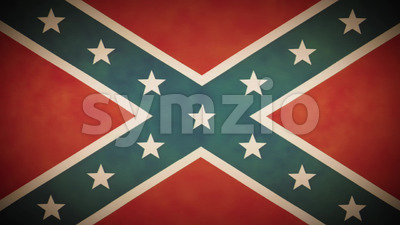 4k American Confederate Flag Background Loop With Glitch Fx Stock Video