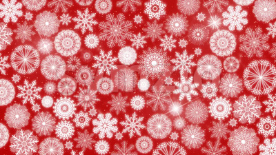 4k Seamless Loop Of Christmas Snowflakes Background Stock Video
