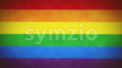 4k LGBT Rainbow Flag Background Loop With Glitch Fx Stock Video