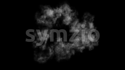 4k Smoke Explosion Fx Background Animation Stock Video