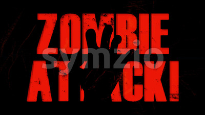 B Movie Zombie Attack Background With Twitch Effect Stock Video