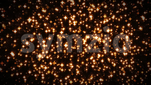 Abstract elegant glowing colorful light stars loopable background for happy new year holidays