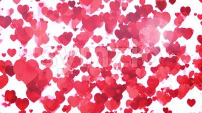 Valentine's day Floating Hearts Background Loop Stock Video