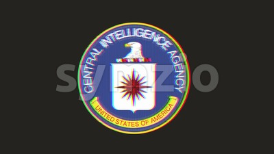 CIA Icon On Bad Old Film Tape Stock Video