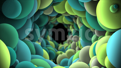 Abstract Background With Big Bubbles Moving Loop Stock Video