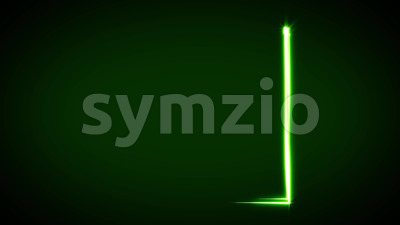 Abstract Light Stroke Square Animation Stock Video