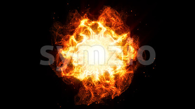 Beautiful Shockwave Fire Background Animation Stock Video