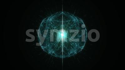 4k Plasma Hi Tech Concept Background Loop Stock Video
