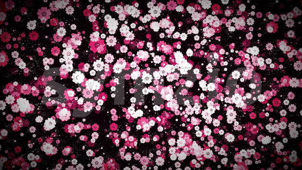 4k animation of an abstract elegant ornament background with flowers seamless looping