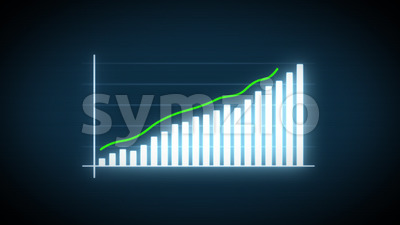 4k Business Growth And Success Arrow Infographics Stock Video