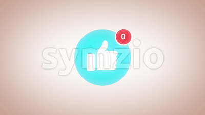 Like And Unlike Comic Hand Sign With Distortion And Glitch Effect Stock Video