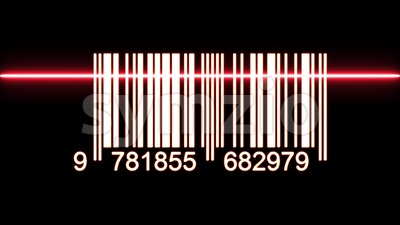 Barcode With Laser Ray Passing Over Stock Video