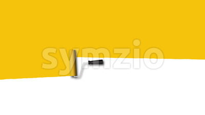 Yellow Paint Roller Background Transition Filling Stock Video