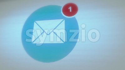 You Have Received 100 Messages In Email Box Stock Video
