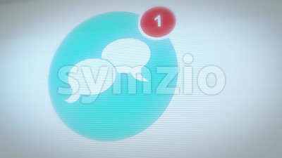 Social Network Icon With Numbers Count Stock Video