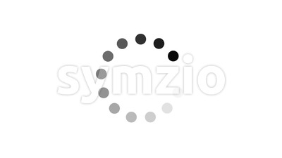 Simple Black And White Preloader With Dots Circle Stock Video