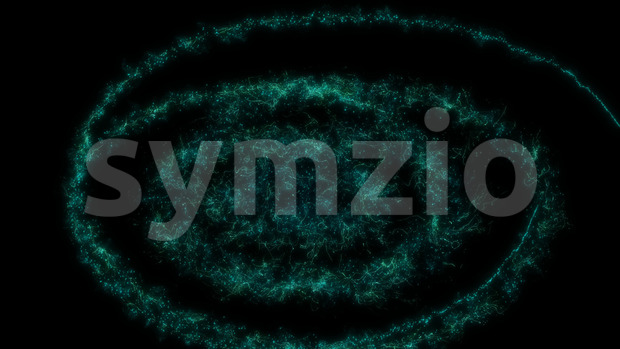 4k animation of an abstract dynamic magic light energy spiralling particles and turbulence lines, with seamless looping