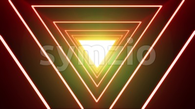 Abstract Background Loop With Neon Shiny Triangle Stock Video