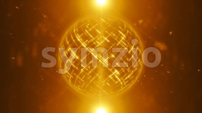4k Abstract Light Sphere Glowing Background Stock Video