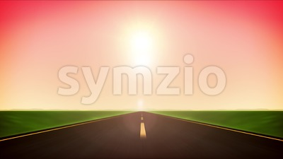 Road Trip On Shiny Sky Background Seamless Loop Stock Video