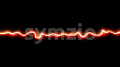 Magic Energy Smoke Line Glowing Loop Stock Video