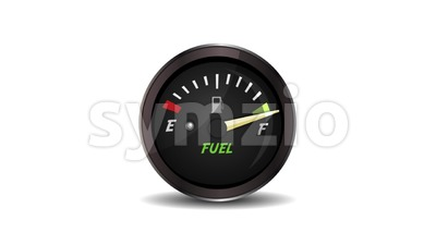 4k Empty And Full Fuel Gauge Loop Stock Video