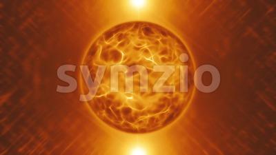 Abstract Energy Sphere Background Loop Stock Video