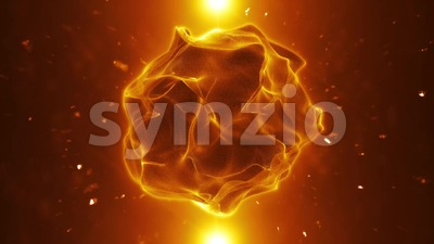 Organic Plasma Sphere Background Loop Stock Video