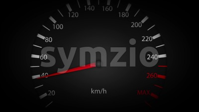 4k Car Speedometer Pointer High Speed Loop Stock Video