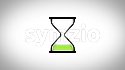 Hourglass Timer Downloader Icon Loop Stock Video