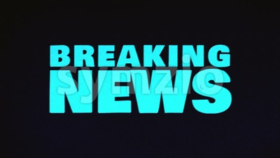Breaking News Background With Glitch Effects Stock Video