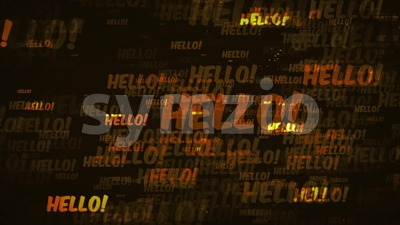 4k Hello Message Background Loop Stock Video