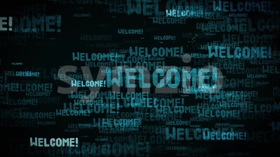 4k Welcome Message Background Loop Stock Video