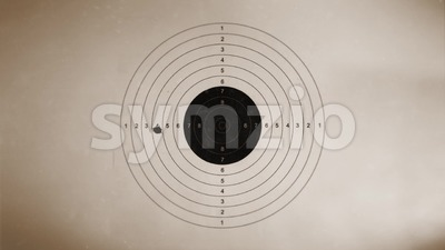 Shooting target On Vintage Background Stock Video