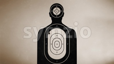 Shooting target On Vintage Background Stock Video